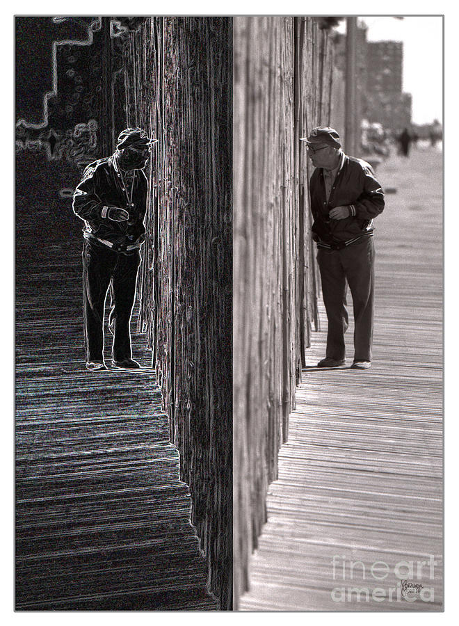 Black And White Photograph - Both Sides Of The Fence by Jeff Breiman