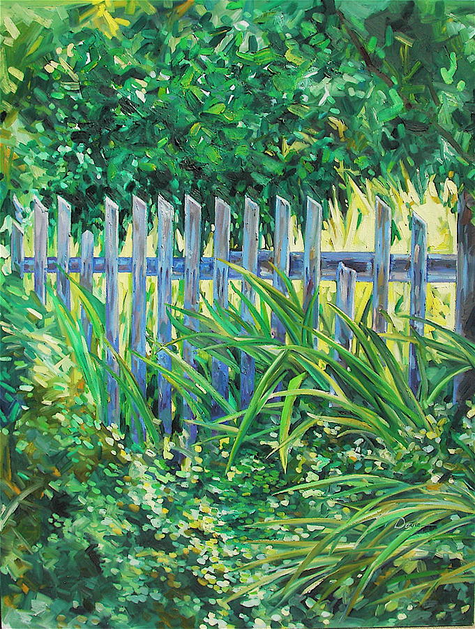 Fence Painting - The Other Side by Karen Doyle
