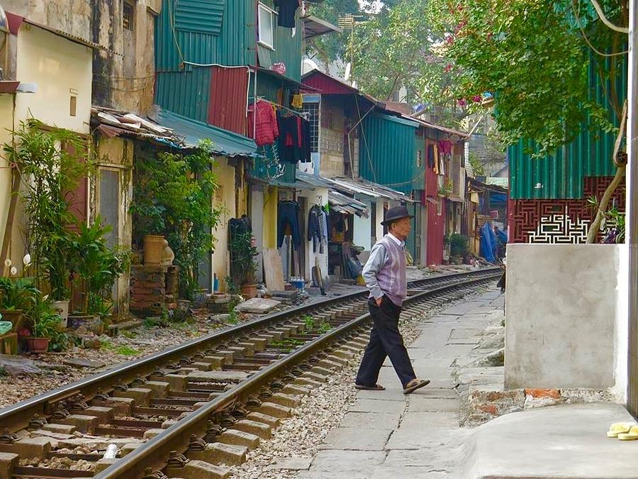 Hanoi Photograph The Other Side Of The Tracks By Carmen Maritza Mendez
