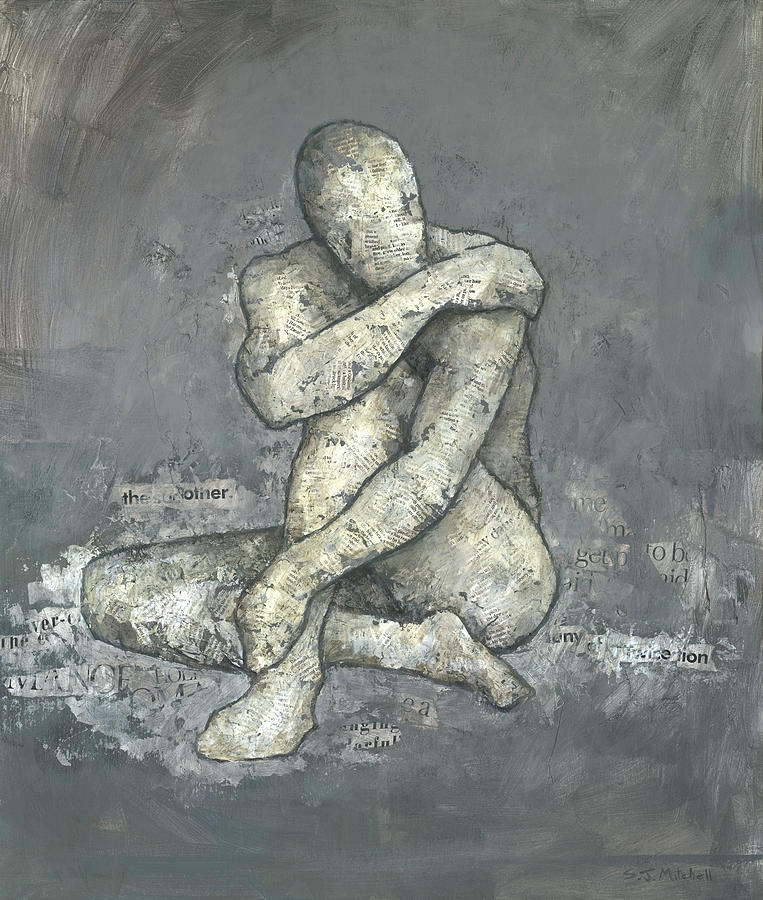 Male Mixed Media - The Other by Steve Mitchell