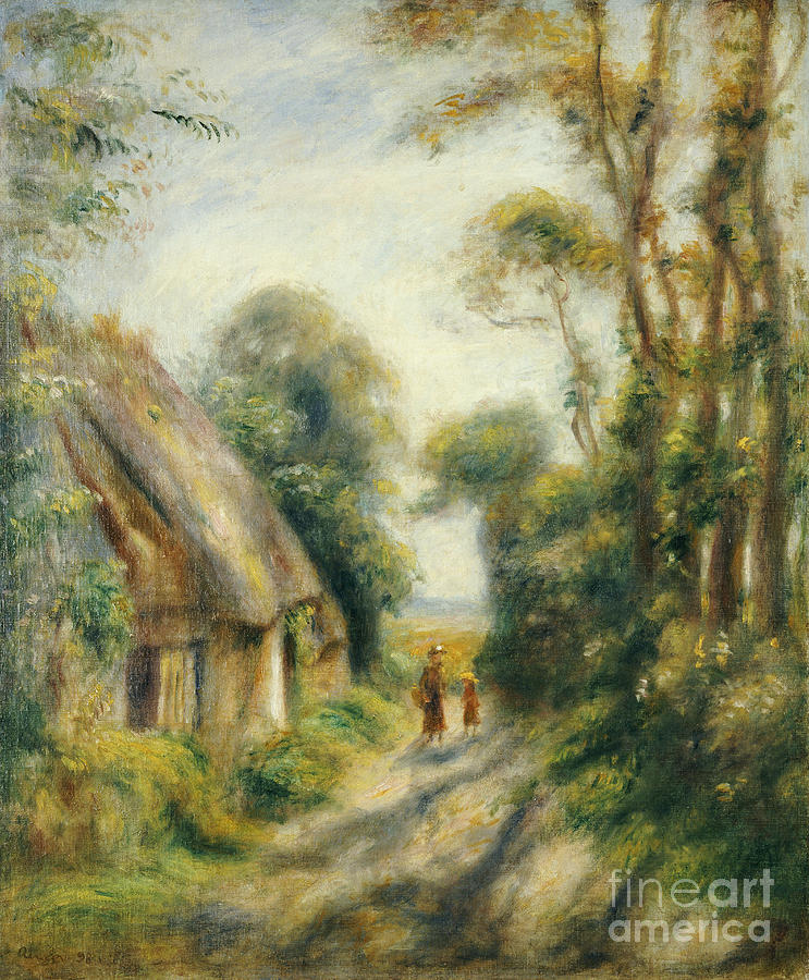 The Outskirts Of Berneval Painting - The Outskirts Of Berneval  by Pierre Auguste Renoir