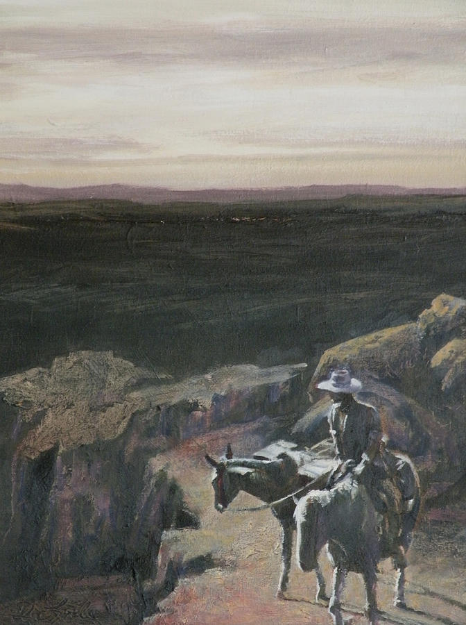 Riders Painting - The Overlook by Mia DeLode