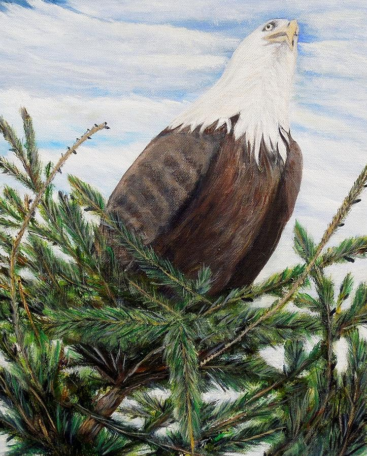 Eagle Painting - The Overseeer by Marilyn  McNish