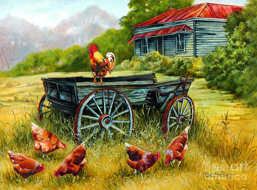 Cart Painting - The Overseer by Val Stokes