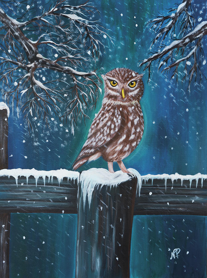 Owl Painting - The Owl by Nicole Paquette