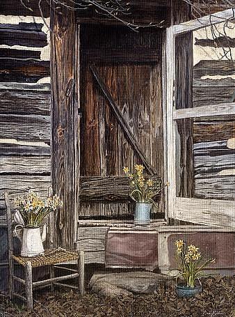 Rural Painting - The Packhouse by Dan Butner