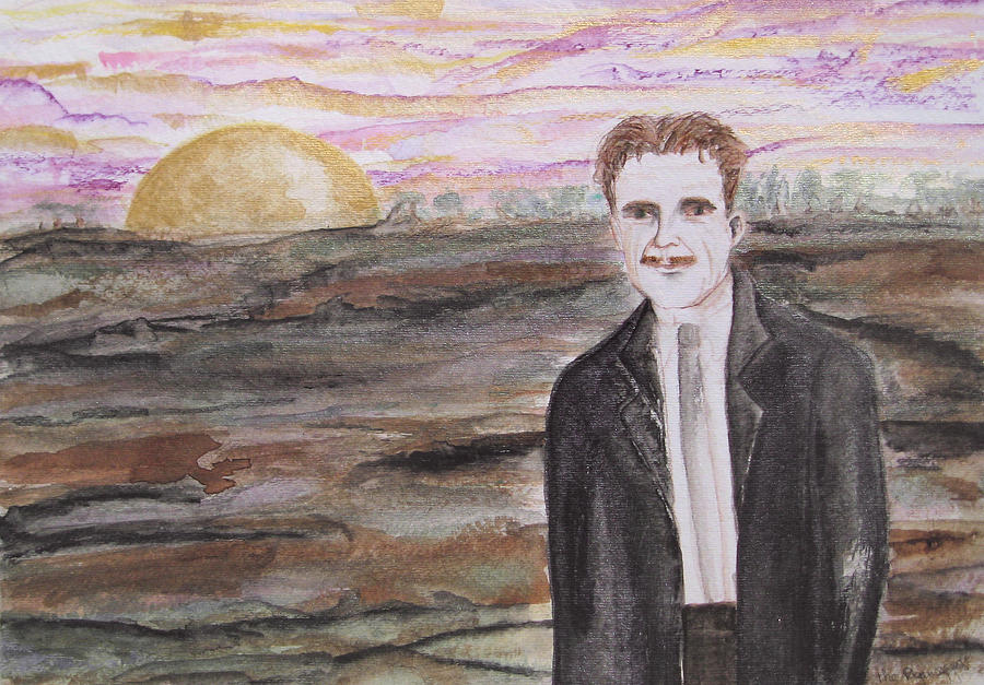 The Pagan George Orwell Painting by Darkest Artist