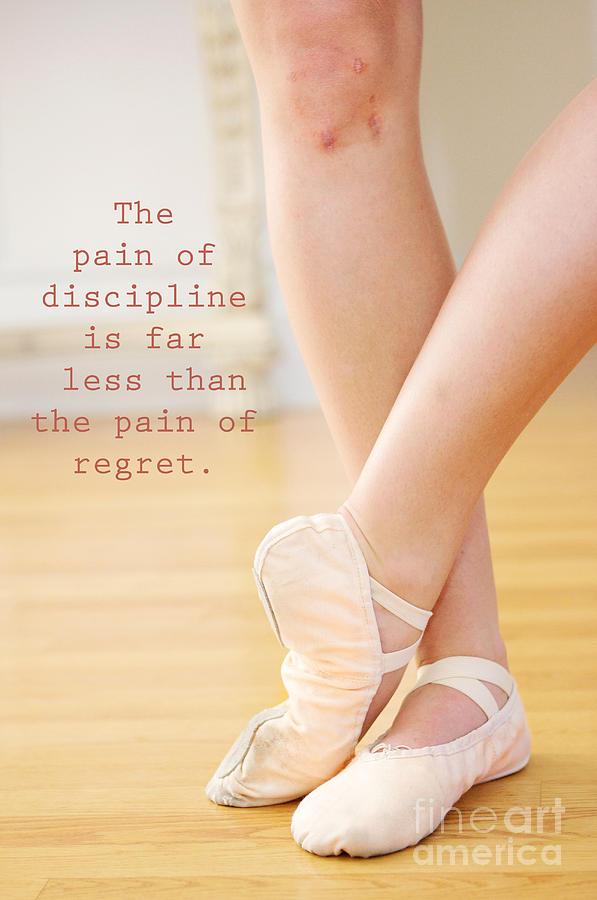 Ballerina Photograph - The Pain Of Discipline by Kim Fearheiley