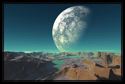 Planets Digital Art - The Painted Canyons Of Taurien 6 by Graham Conrad