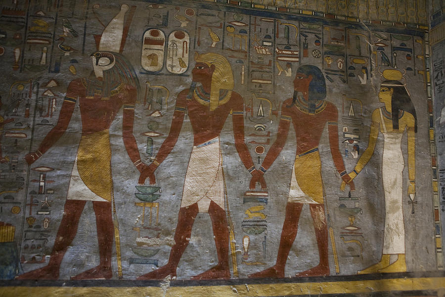 Africa Photograph - The Painted Walls Inside A Tomb by Taylor S. Kennedy
