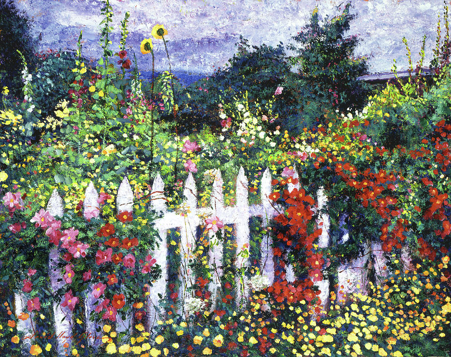 Gardens Painting - The Painters Palette Garden by David Lloyd Glover