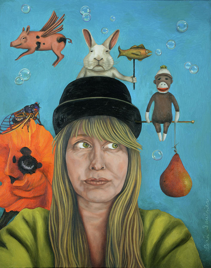 Leah Saulnier Painting - The Painting Maniac by Leah Saulnier The Painting Maniac
