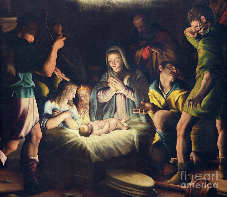 Church Photograph -  The Painting Of Nativity By Pier Maria Bagnadore by Jozef Sedmak