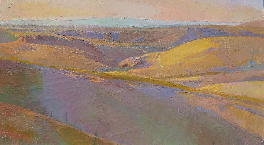 Landscape Painting - The Painting Spot Morning Light by Ken Massey