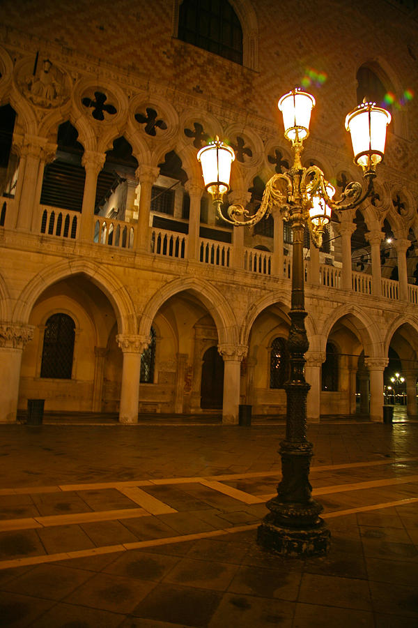 Doge's Palace Photograph - The Palace Before Sunrise by Ave Guevara