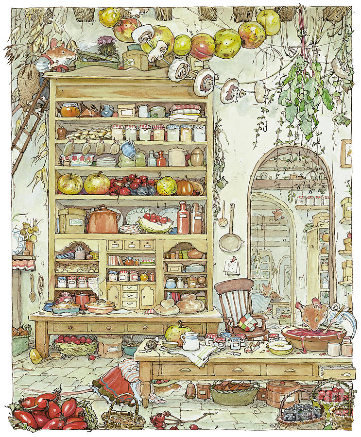 Brambly Hedge Drawing - The Palace Kitchen by Brambly Hedge