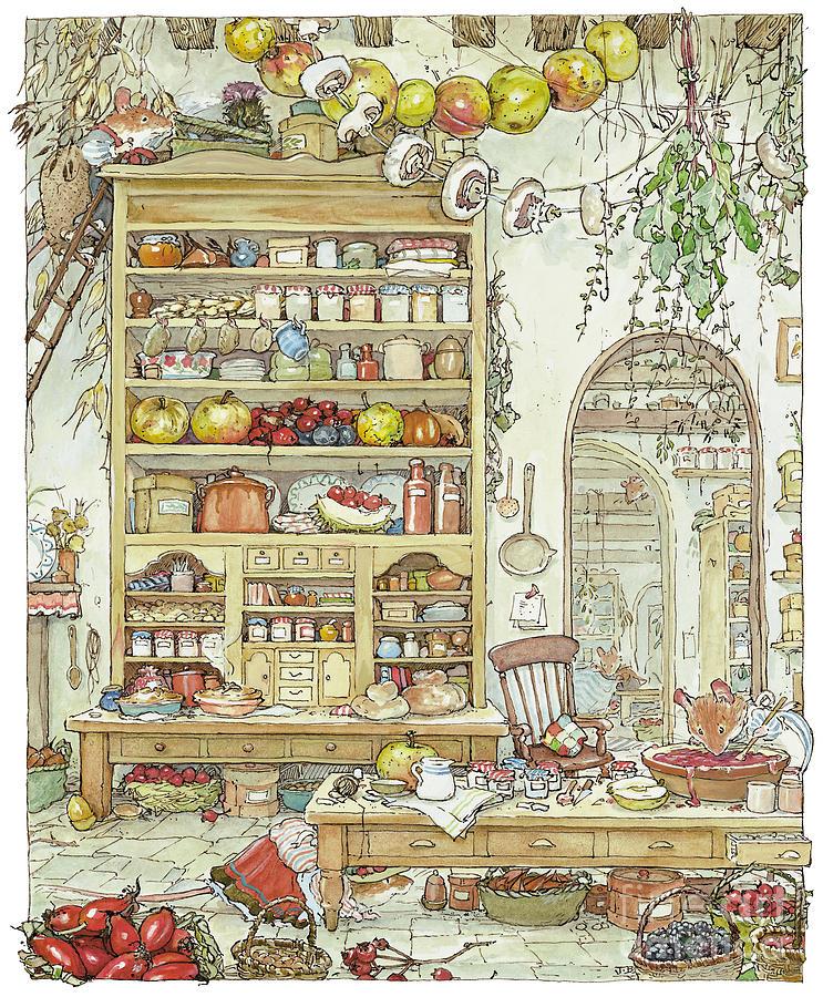 Kitchen Art America Inc: The Palace Kitchen Drawing By Brambly Hedge