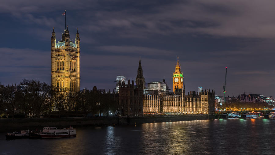 London Photograph - The Palace Of Westminster By Night by Adrian Brown