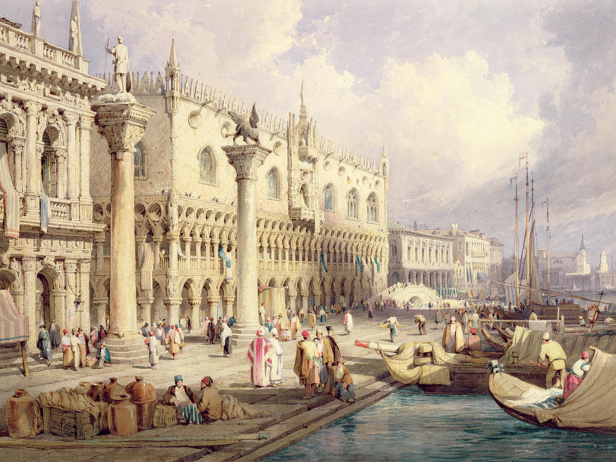 The Painting - The Palaces Of Venice by Samuel Prout