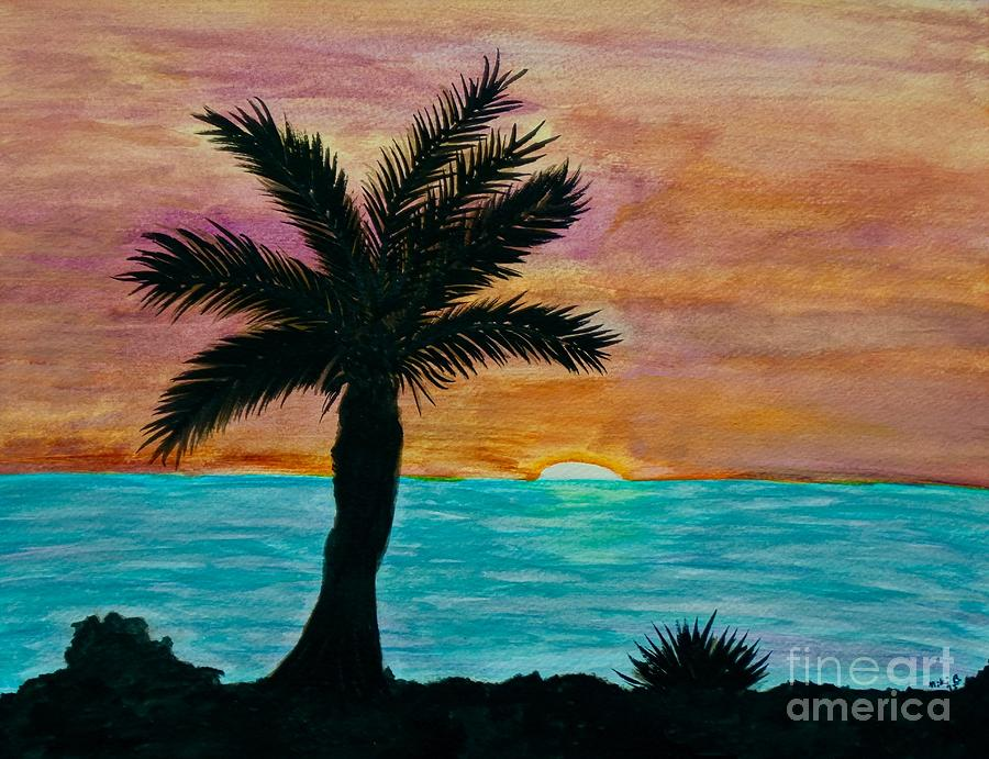 The Palm Tree - Watercolor Painting