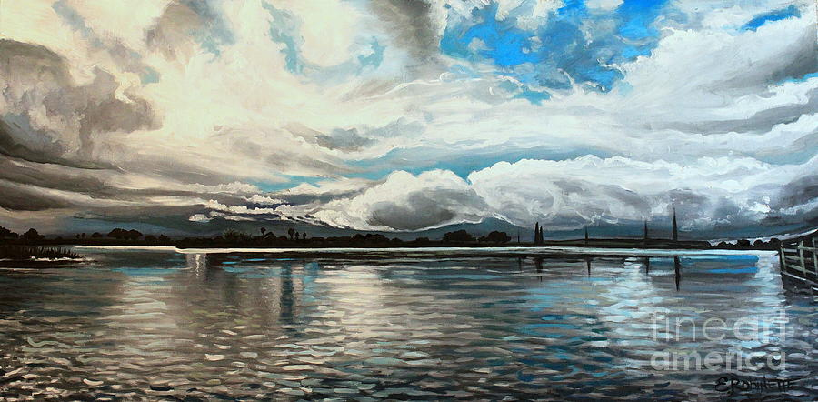 Landscape Painting - The Panoramic Painting by Elizabeth Robinette Tyndall