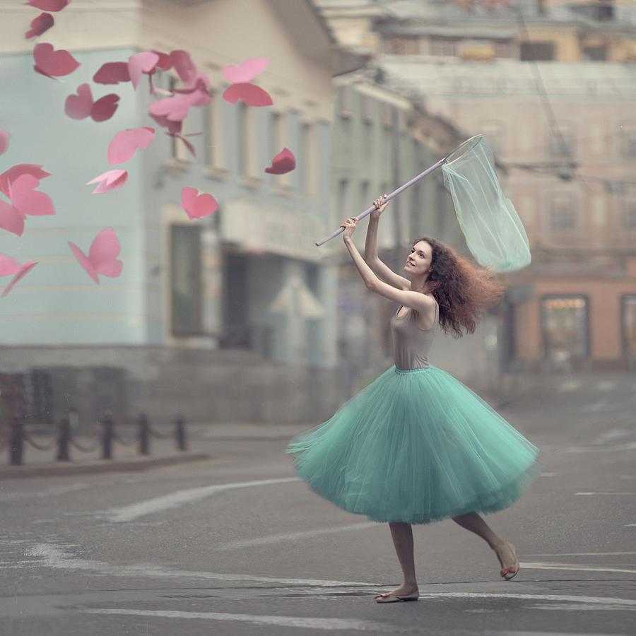 The Paper Butterflies Catcher Photograph by Anka Zhuravleva