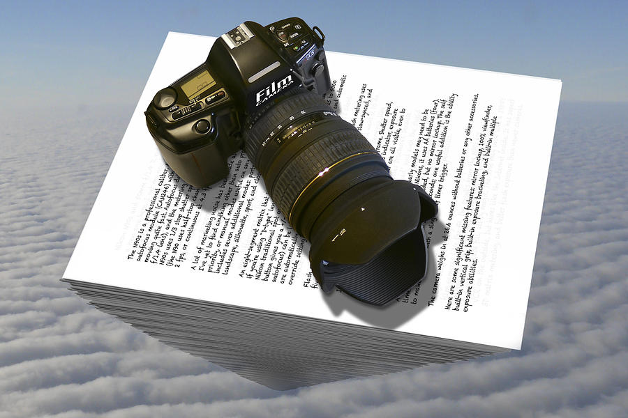 Vintage Nikon Photograph - The Paperweight by Mike McGlothlen