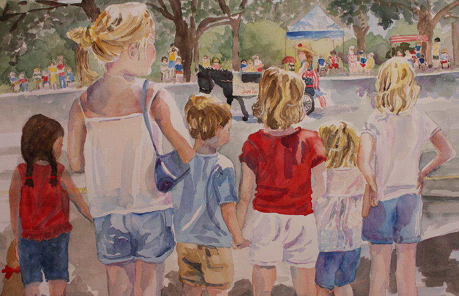 Kids Painting - The Parade by Nancy Henkel Schulte