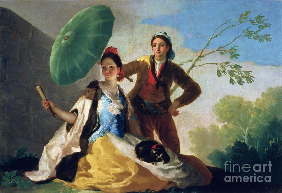 The Painting - The Parasol by Goya