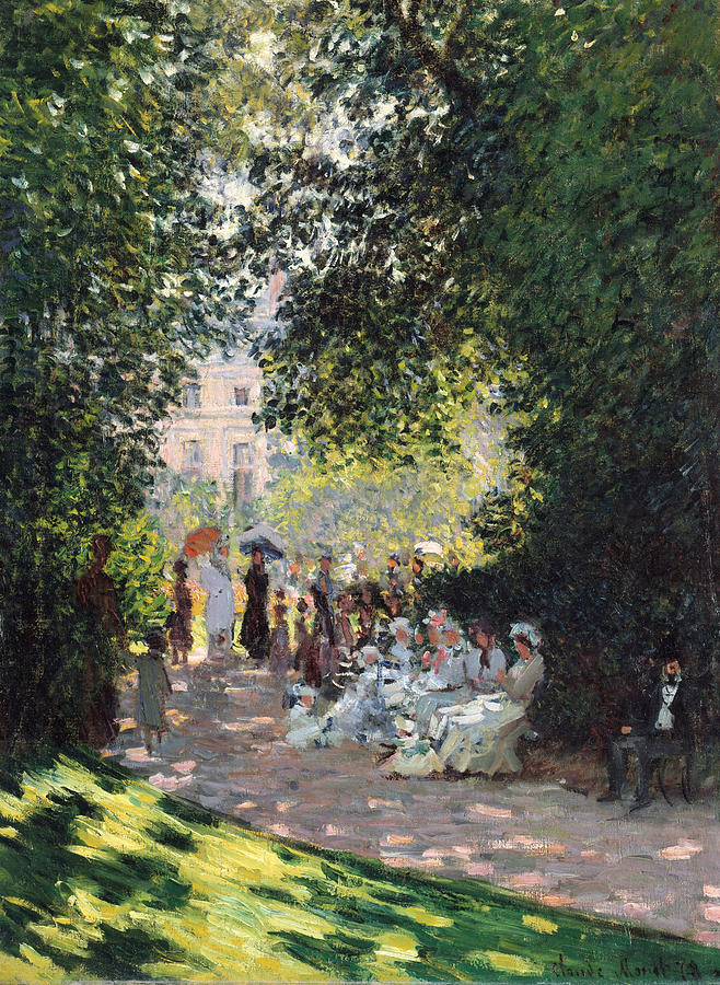 French Painters Painting - The Parc Monceau 2 by Claude Monet