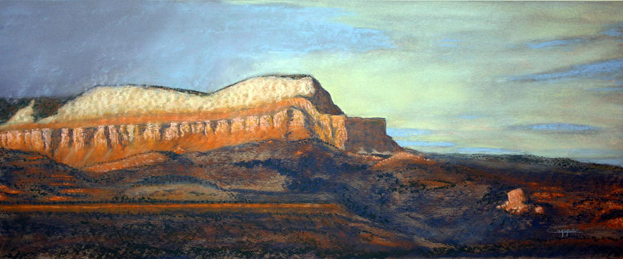 Powell Point Painting - The Parthenon by Carl Capps
