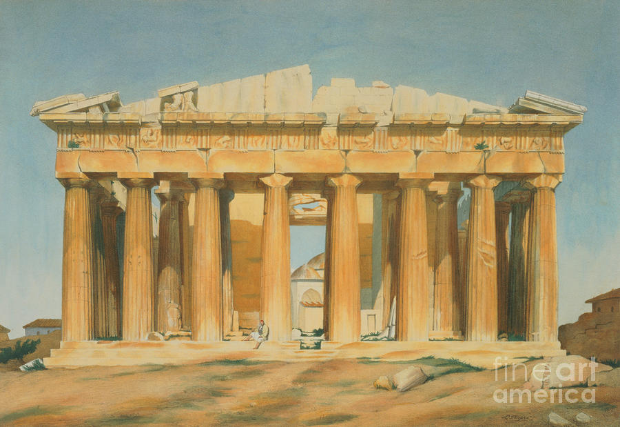 The Painting - The Parthenon by Louis Dupre