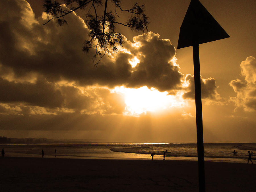 Sun Photograph - The Pass Byron Bay by Edan Chapman