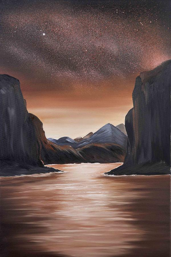 Landscape Painting - The Passage beyond the boundaries by Ara  Elena