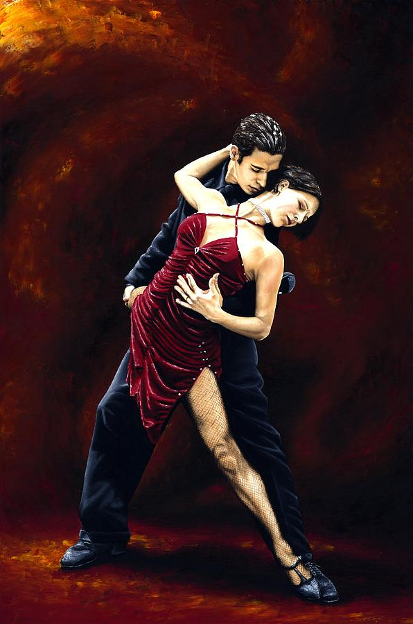 Tango Painting - The Passion Of Tango by Richard Young