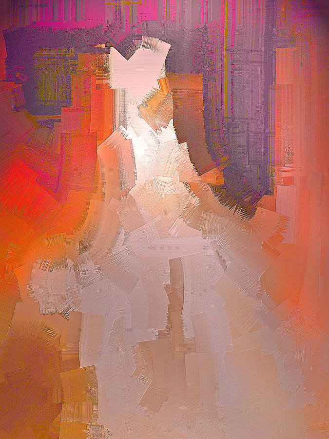 Abstract Digital Art - The Past Warns The Future by Michael Durst