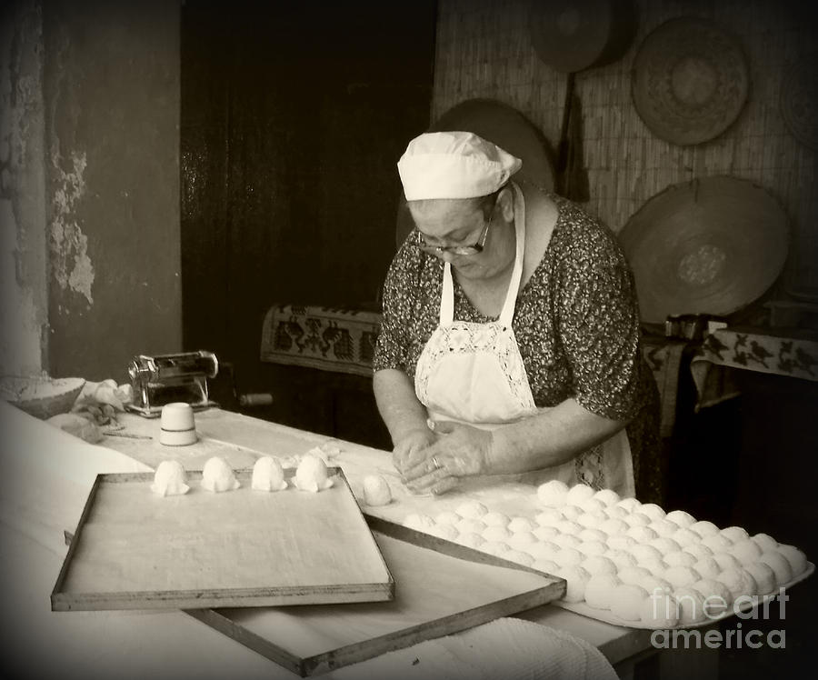 The Pastry Maker, Sardinia Photograph