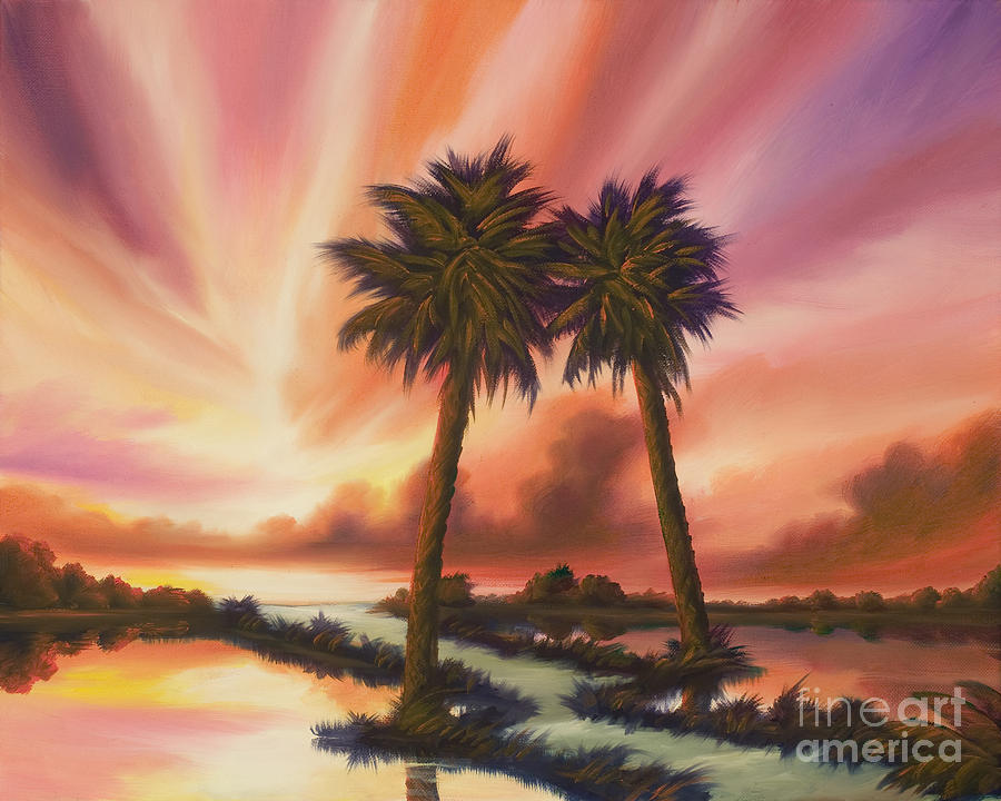 Skyscape Painting - The Path Ahead by James Christopher Hill