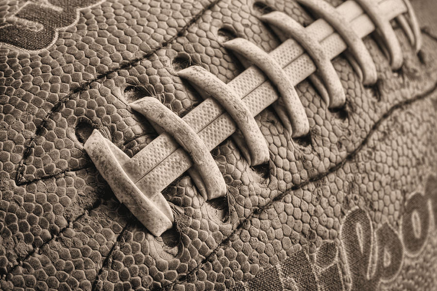 Football Photograph - The Path Bw by JC Findley