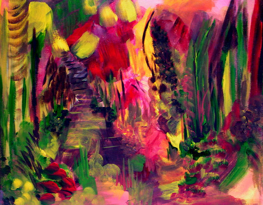 Painting Painting - The Path Leads Up by Ellen Seymour