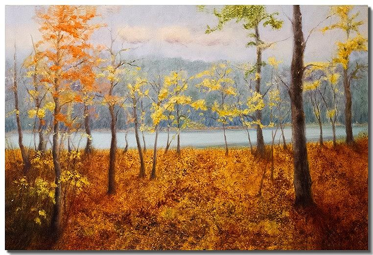 Fall Landscape Painting Painting - The Path Less Traveled by Liron Sissman
