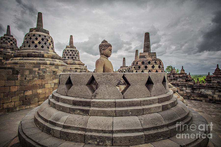 Borobudur Photograph - The Path Of The Buddha #1 by Edit Kalman