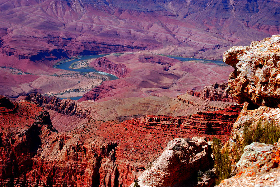 Grand Canyon Photograph - The Path Of The Colorado River by Susanne Van Hulst