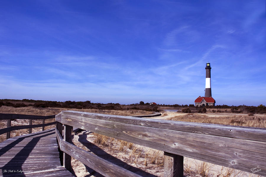 Lighthouse Photograph - The Path To Enlightenment by Diane C Nicholson