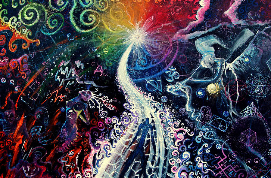 Path Painting - The Path To Enlightenment by Steve Griffith
