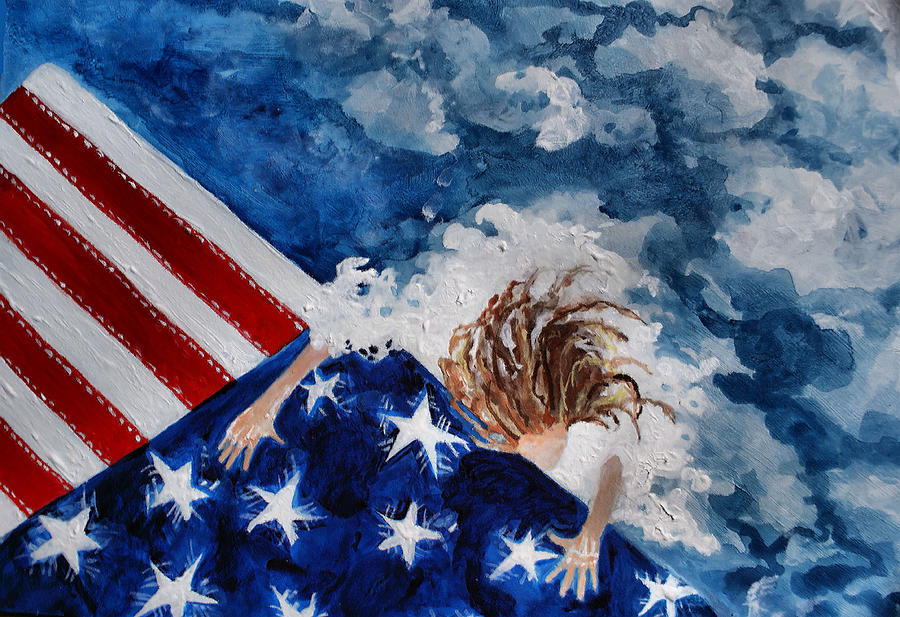 Patriot Painting - The Patriot Returns Home by Mary Sonya  Conti