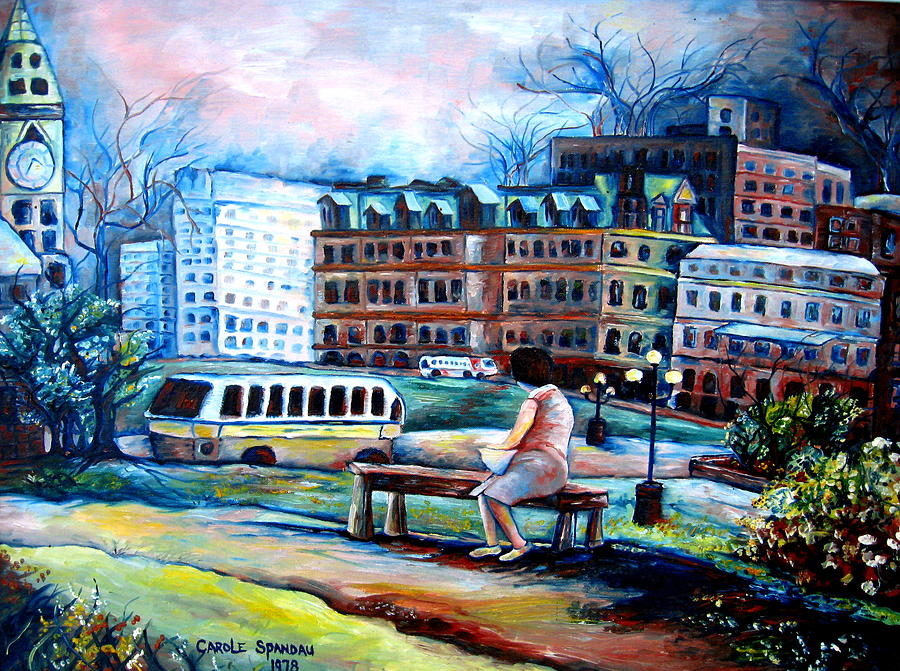 Montreal Painting - The Peace Tower In Ottawa by Carole Spandau