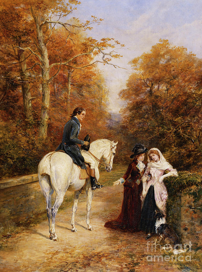 Horse Painting - The Peacemaker by Heywood Hardy
