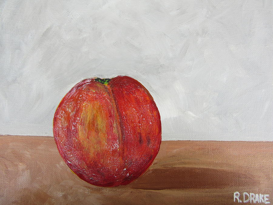 Peach Painting - The Peach by Richard Drake