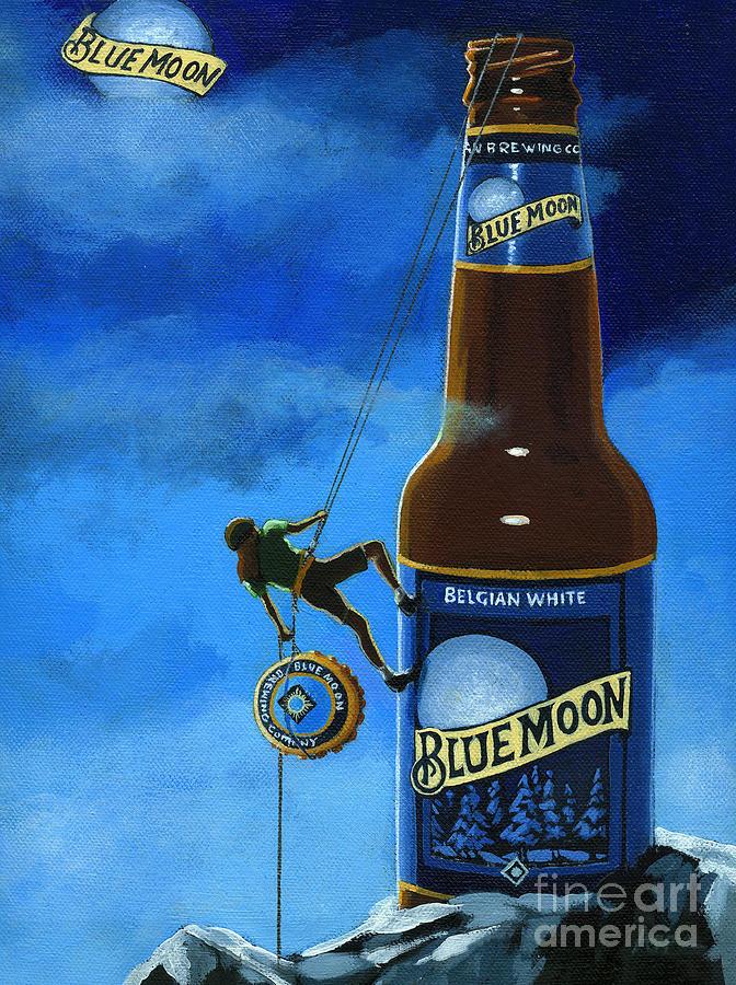 Blue Moon Beer Painting - The Peak Of Taste by Linda Apple